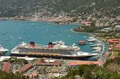 Disney Fantasy Cruise Ship Aerial View