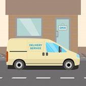 Beige delivery Van