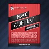 business flyer template brochure illustration