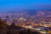 pic of medellin  - Cityscape of Medellin Colombia taken at dusk - JPG