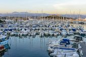 Antibes Harbour In South Of France