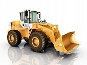 picture of wheel loader  - Computer generated 3D illustration with a Wheel Loader - JPG