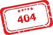 404 Error Red Rubber Stamp Over A White Background