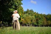 Elderly couple in autumn