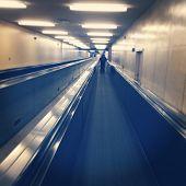 Hallway in airport - instagram effect