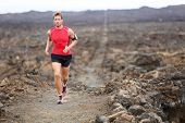 stock photo of triathlon  - Trail runner  - JPG