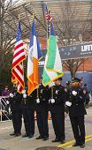 The Color Guard of the New York Police Department