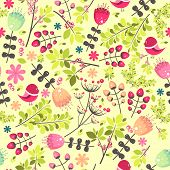 Floral colorful seamless pattern