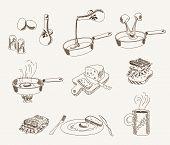 vector scrambled sketches set