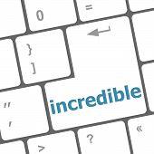 Incredible Word On Computer Pc Keyboard Key
