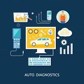 picture of car symbol  - Auto mechanic service flat icons of maintenance car repair - JPG