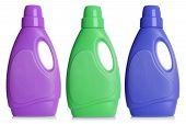 Set of bottles of detergent