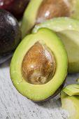 Avocado on a table
