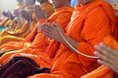 Monks Of The Religious Rituals, Buddhist Ceremony