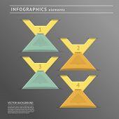 Infographics Design Elements On Dark Background