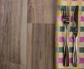 Teatowel With Cutlery