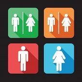men and women toilet signs