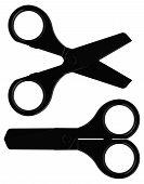 the black scissors