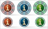 Set Of Six Icons With Info Symbol