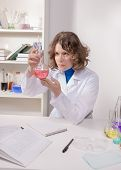 Female Student Studying Chemistry