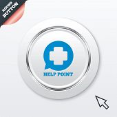 Help point sign icon. Medical cross symbol.