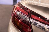 Modern luminescent lamp of a car
