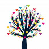 Love Tree Isolated Over White Background
