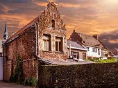 Old Buildings Of Maaseik Town. Belgium