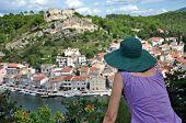 View Of Novigrad Fishing Town, Croatia