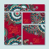 collection of decorative floral greeting cards