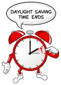 picture of daylight-saving  - vector illustration of a alarm clock return to standard time