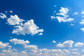 Cloudscape background of sunny blue sky