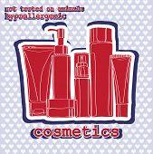 cosmetics sticker