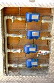 Gas meter bank