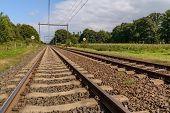 Railway In Holland
