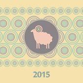 Pink Sheep Christmas New Year Card