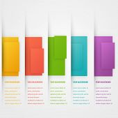 Abstract triangle template banner. Color set