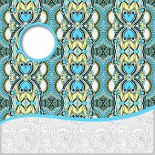 geometric tribal pattern with place for your text and company na