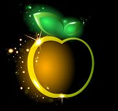 Glowing Yellow Apple