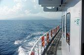 Passenger boat's side deck
