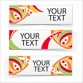 Abstract colorful headers or banners set