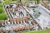 Excavations of Pompei in miniature