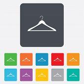 Hanger sign icon. Cloakroom symbol.