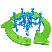 Green Business Handshake