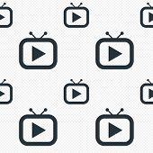 Retro TV mode sign icon. Television set symbol.