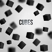 Vector Illustration Of 3D Cubes.