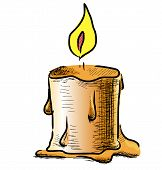 Candle with fire