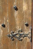 Old Wooden Door With Metal Design