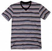 Men's t-shirt isolated on white background.
