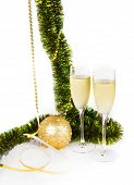 Christmas Goblets With Present